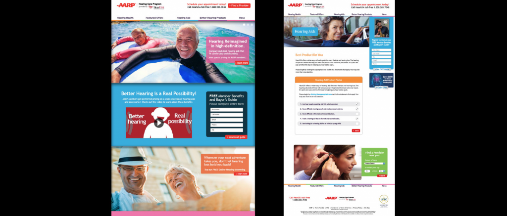 AARP Website Design Ad Agency
